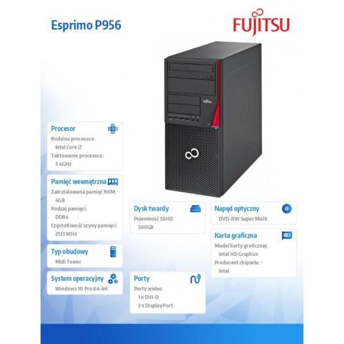 Esprimo P956 W10P i7-6700/4GB/500HDD/DVD LKN:P0956P0003PL