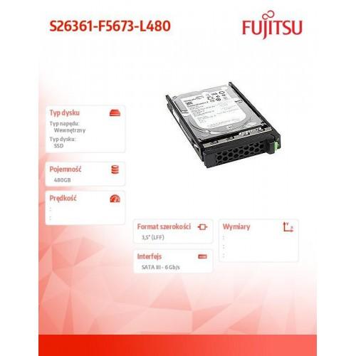 Dysk SSD SATA 6G 480GB Mix 3,5cala HP S26361-F5673-L480