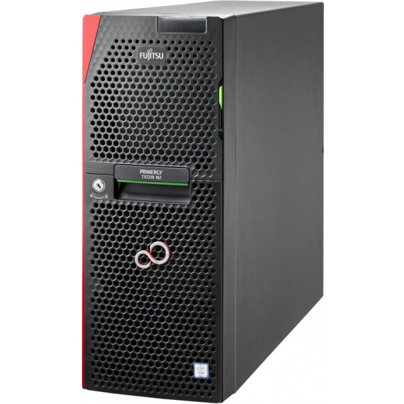 FUJITSU PRIMERGY TX1330 M2 SFF HDDs Xeon E3-1220v5 1x8GB DDR4 2133ub ECC PRAID SAS 12G CP400i 0,1,10,5,50 HDD 2x300GB SAS 12G 10