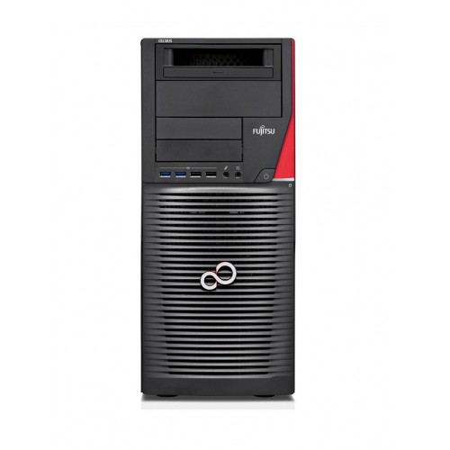 FUJITSU CELSIUS M740 Xeon E5-2630v4 2x16GB ECC brak-VGA DVD-SM, MultiCard Reader 24in1 SSD 256GB NVMe KB Mouse Win10 Pro/Win7 Pr