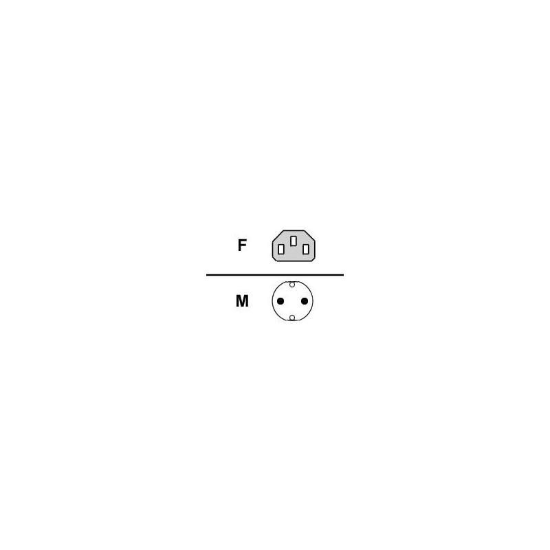 Fujitsu Cable powercord (D,..), 1.8m, grey