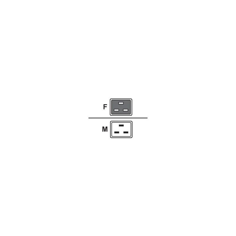 Power cord 16A IEC320 C19->C20