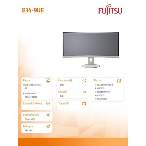Fujitsu Monitor B34-9 UE, EU DP, HDMI,