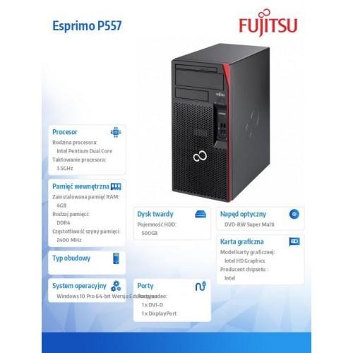 Fujitsu Komputer ESPRIMO P557 Pentium G4560, 1x4GB,W10P