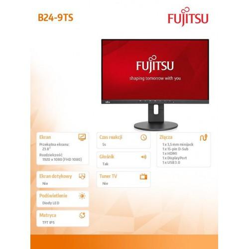 Fujitsu Monitor B24-9 TS Black LED, DP, HDMI, VGA